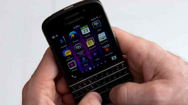The Q10 phone will hit the Greater Toronto Area Wednesday. It arrived in the U.K. over the weekend under an exclusive launch at department store Selfridges.