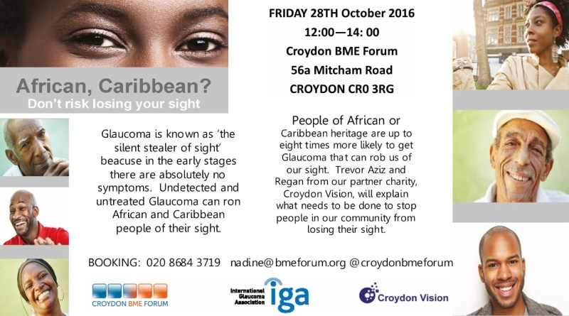 African, Caribbean?  Dont risk losing your sight