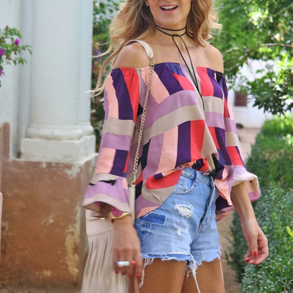 SHORT AND TOP MULTICOLOR
