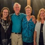 With the Patersons, Carol Bunker and John Higham