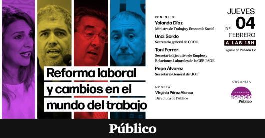 Cartel acto Reforma Laboral Público TV