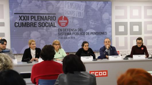 Mesa del XXII Plenario de la Cumbre Social