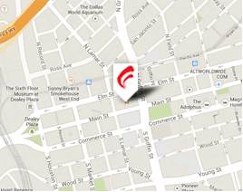 Map to Carrington Coleman's Dallas office