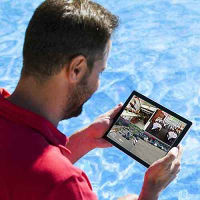 CCTV Services DVR with Wireless Remote Viewing on a Tablet