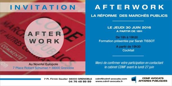 Invitation Afterwork CDMF Avocats Affaires publiques