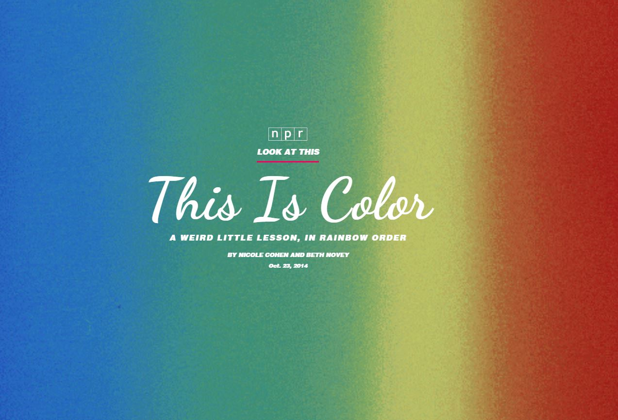 NPR: Look At This: This is Color