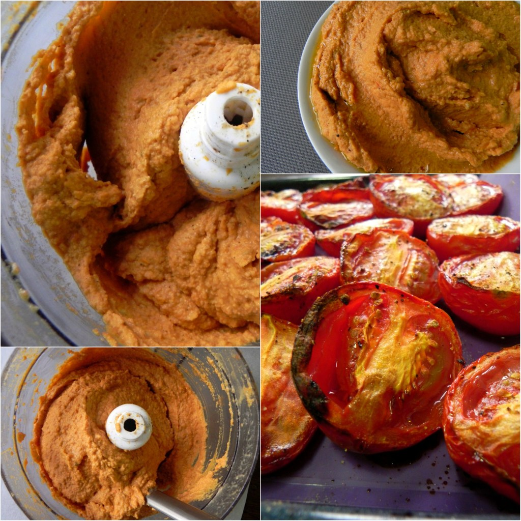 Roasted tomato and red pepper hummus vegan for Roasted red peppers hummus