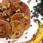 Ceara's Kitchen Chocolate Chip Banana Oat Blender Pancakes #vegan