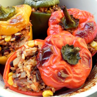 Vegan Stuffed Peppers from Ceara's Kitchen