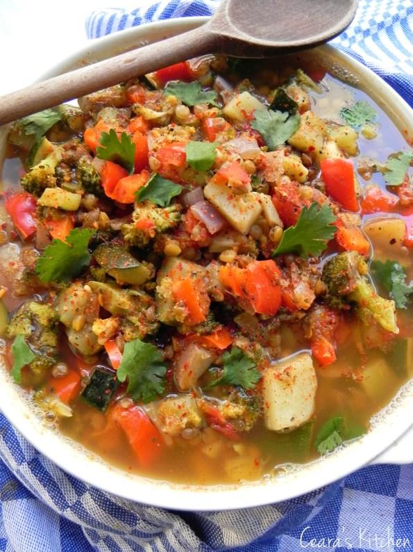 vegetable kitch sink soup SPRING