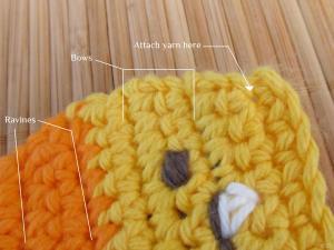 Attach yarn here