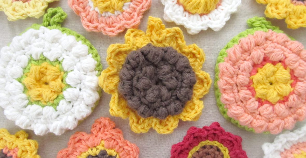 Crocheted Flower Tawashi