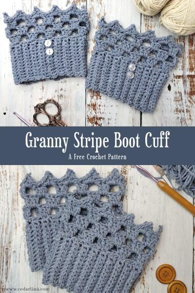 Granny Stripe Boot Cuff
