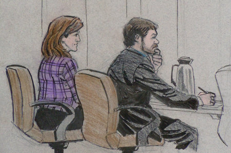 Amy Senser trial-courtroom sketch 1