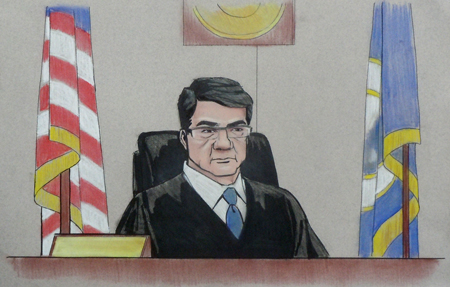 courtroom sketch - judge