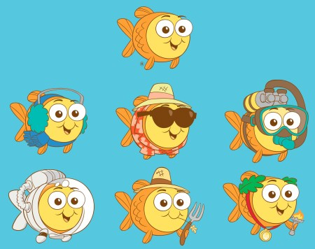 Goldfish Mascot Themes