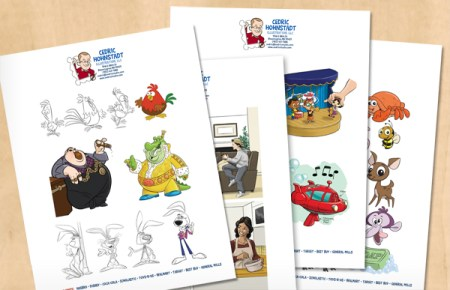 Free PDF Portfolio Downloads from Cedric Hohnstadt Illustration