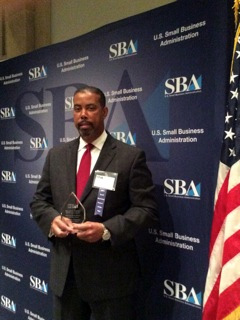 Harold Charles receiving SBA award