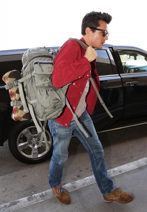 John Mayer Catches A Flight At LAX