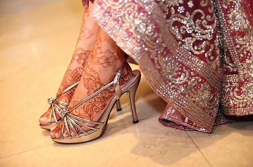Mehndi Bridal Shoes : Mehndi weddings