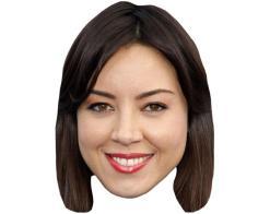 A Cardboard Celebrity Mask of Aubrey Plaza