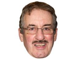 A Cardboard Celebrity Mask of John Challis