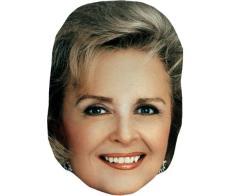 A Cardboard Celebrity Mask of Donna Reed