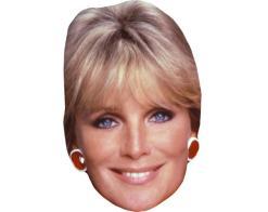 A Cardboard Celebrity Mask of Linda Evans