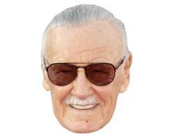 A Cardboard Celebrity Mask of Stan Lee