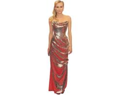 A Lifesize Cardboard Cutout of Diane Kruger wearing a gown