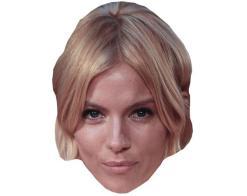 A Cardboard Celebrity Mask of Sienna Miller