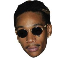 A Cardboard Celebrity Mask of Wiz Khalifa