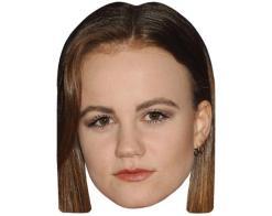 A Cardboard Celebrity Mask of Mackenzie Lintz