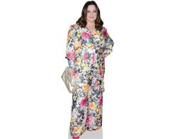 A Lifesize Cardboard Cutout of Melissa McCarthy (Floral) wearing a floral dress