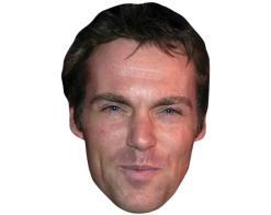 A Cardboard Celebrity Mask of Michael Shanks