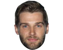 A Cardboard Celebrity Mask of Mike Vogel