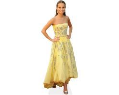 A Lifesize Cardboard Cutout of Alicia Vikander (Yellow Dress) wearing a yellow dress