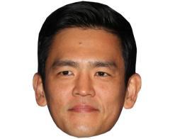 A Cardboard Celebrity Mask of John Cho