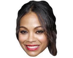 A Cardboard Celebrity Mask of Zoe Saldana