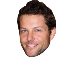 A Cardboard Celebrity Mask of Jamie Bamber