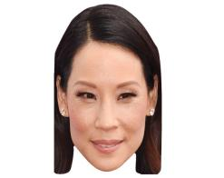 A Cardboard Celebrity Mask of Lucy Liu