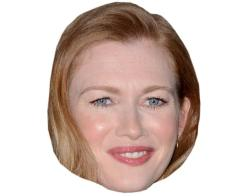 A Cardboard Celebrity Mask of Mireille Enos