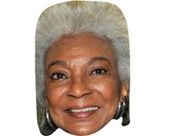 A Cardboard Celebrity Mask of Nichelle Nichols