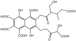 Fulvinezuur molecule