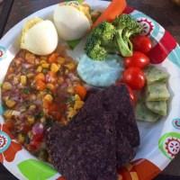 Potluck Dinner Club: Rainbow Potluck (with bonus Corn Salsa Recipe)
