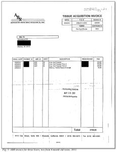 Figure 5: ABR Invoice