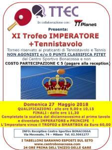 XI torneo IMPERATORE 27 MAGGIO 2018