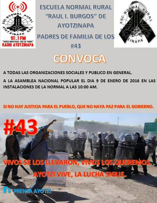 9 ene Asamblea Nacional Popular en Ayotzinapa