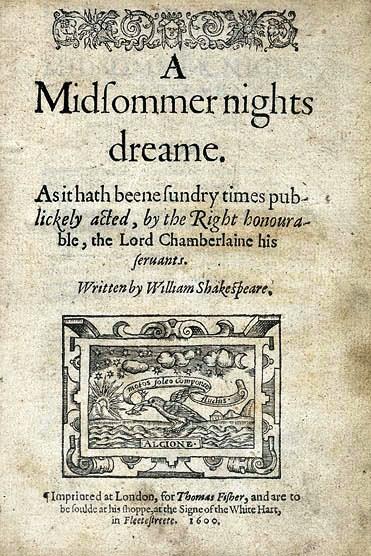Malinconia e platonismo nel 'Sogno di una notte di mezza estate' di Shakespeare