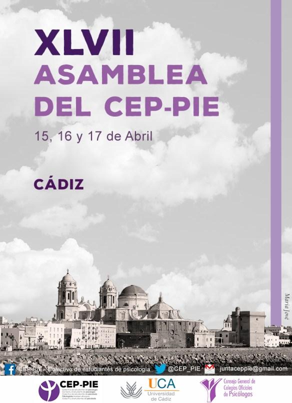 CARTEL XLVII ASAMBLEA GENERAL DEL CEP-PIE